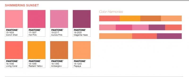 Цветовые палитры Pantone 2