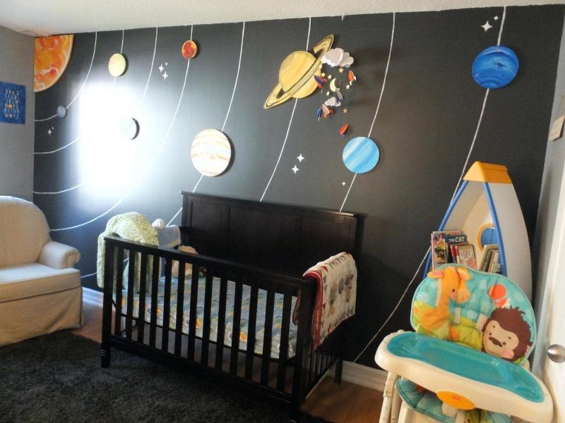 Космический дизайн детской 10