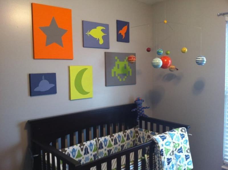 Космический интерьер детской 2