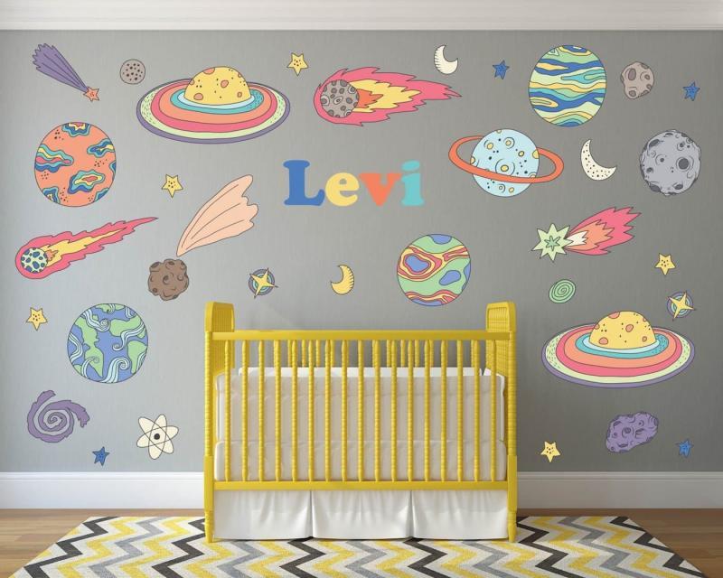 Космический интерьер детской 4