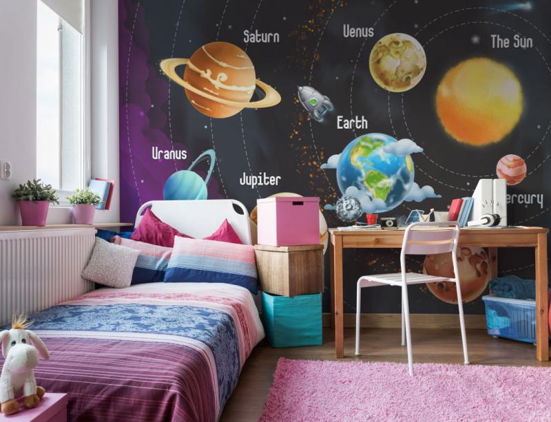 Космический интерьер детской 5