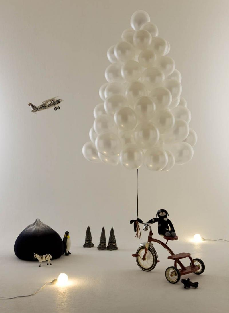 Новогодняя ёлка из шаров 1