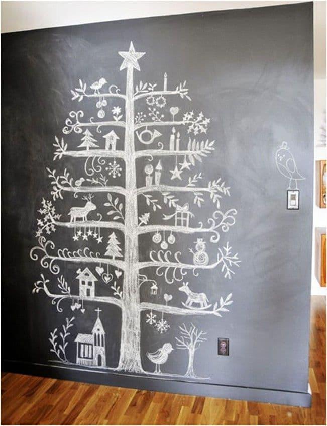 Новогодняя ёлка нарисованная 1