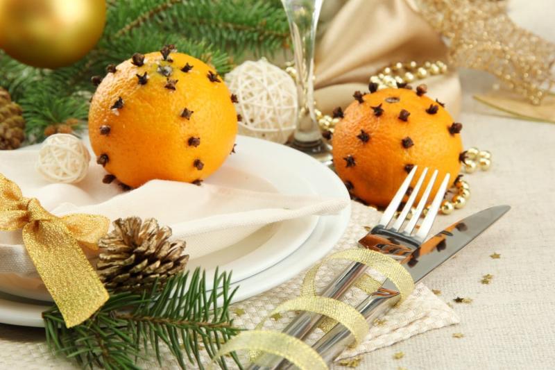 Сервировка новогоднего стола 1