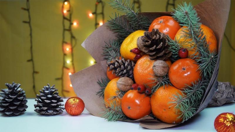 Сервировка новогоднего стола 2