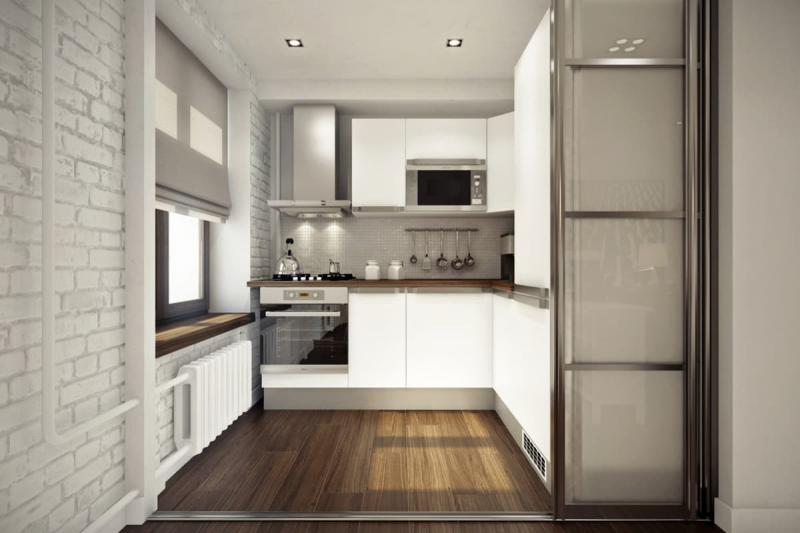 Цвет для кухни 12 кв.м. белый 1