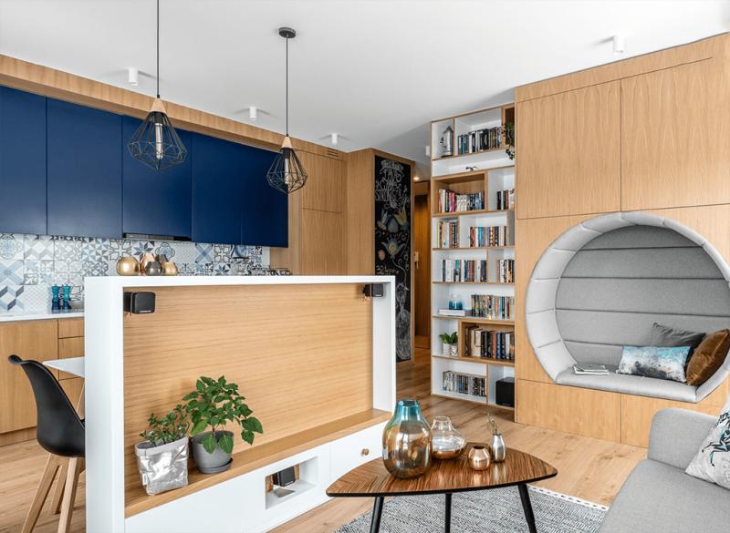 Кухня-студия 12 кв.м 5