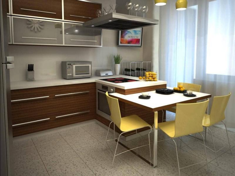 Пол на кухне 12 кв.м 3