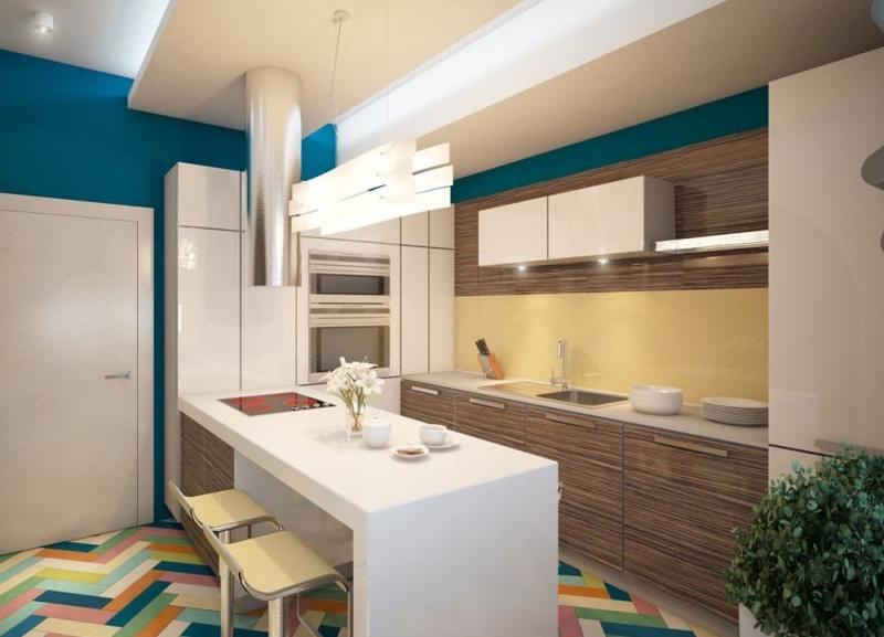 Пол на кухне 12 кв.м 5