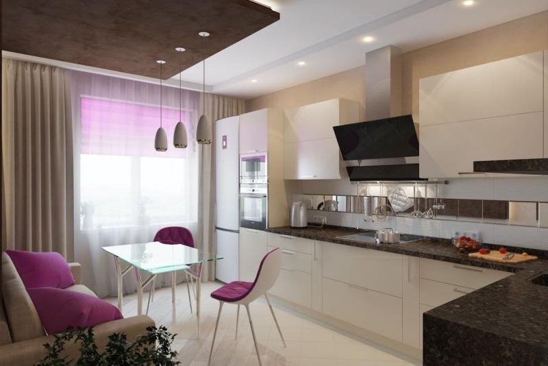 Потолок для кухни 12 кв.м 5
