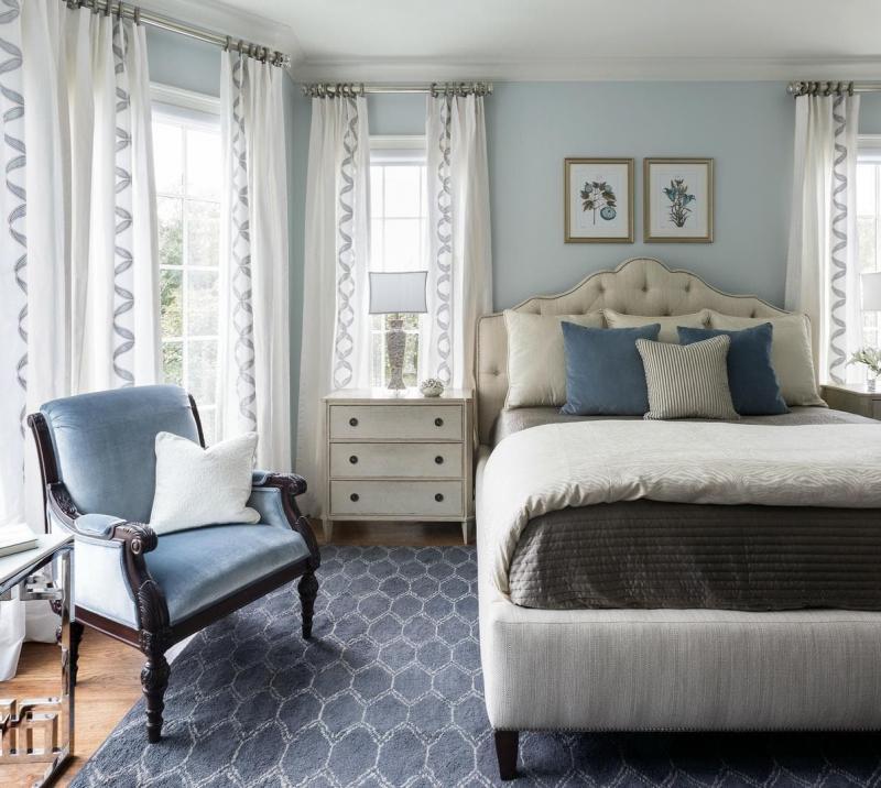 Аксессуары для спальни 2019 шторы в пол 2