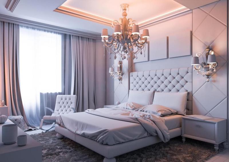 Игра оттенков в интерьере спальни 2019 2