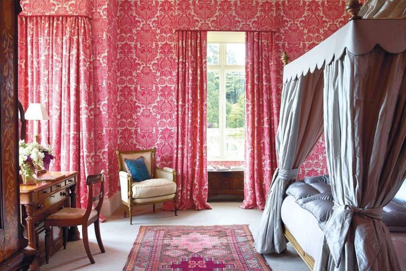 Интерьер спальни 2019 цвет красный приглушенный
