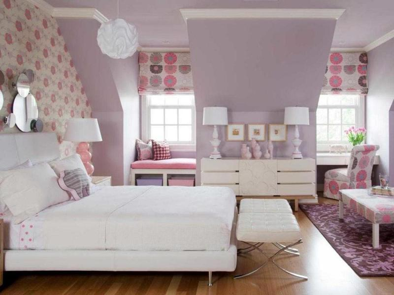 Интерьер спальни 2019 цвет розовый грязный