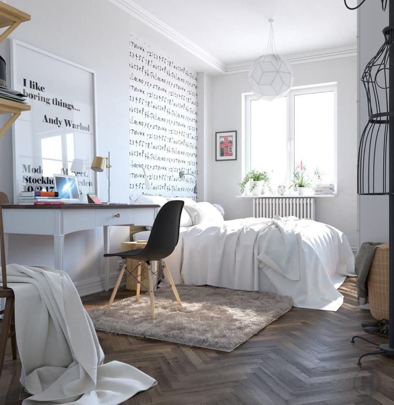 Стиль в интерьере спальни 2019 скандинавский 1