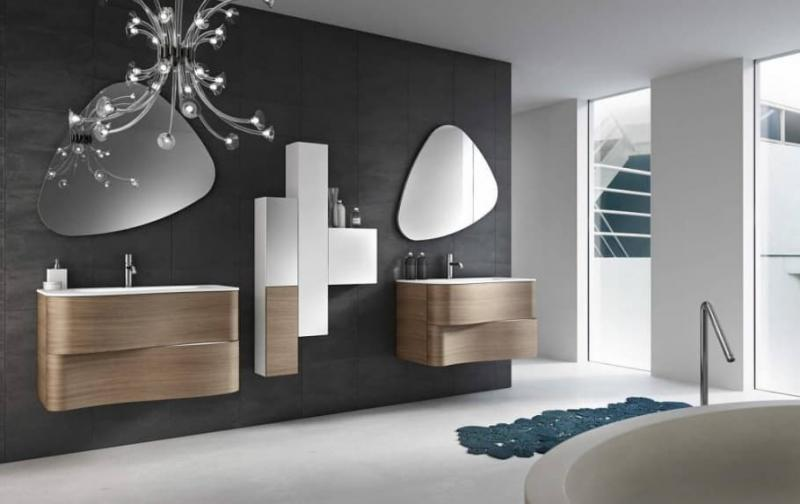 Аксессуары для ванной 2019 зеркала ассиметричные 2