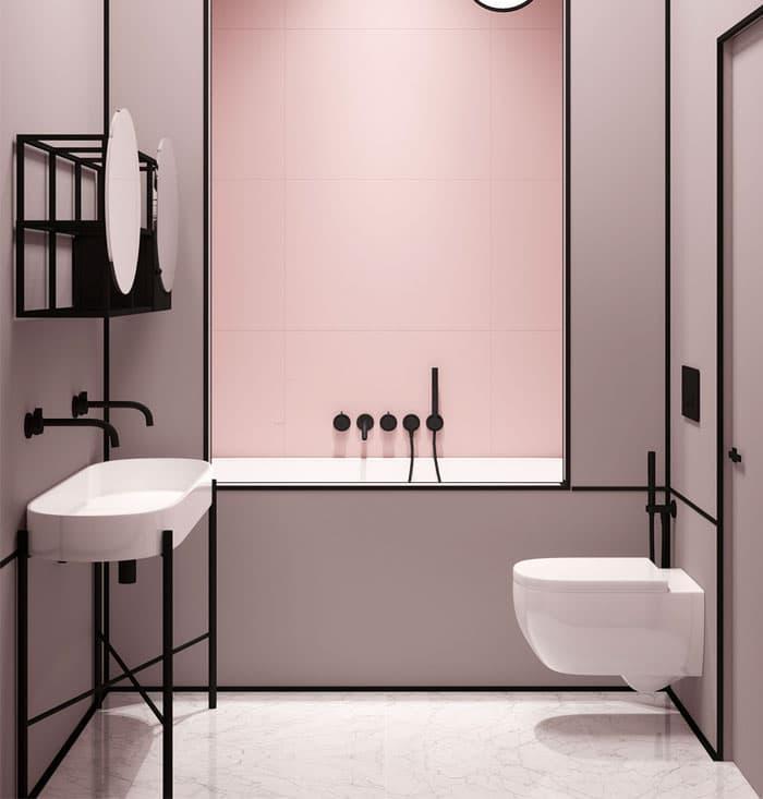 Цвет для ванной 2019 пудровый розовый 3