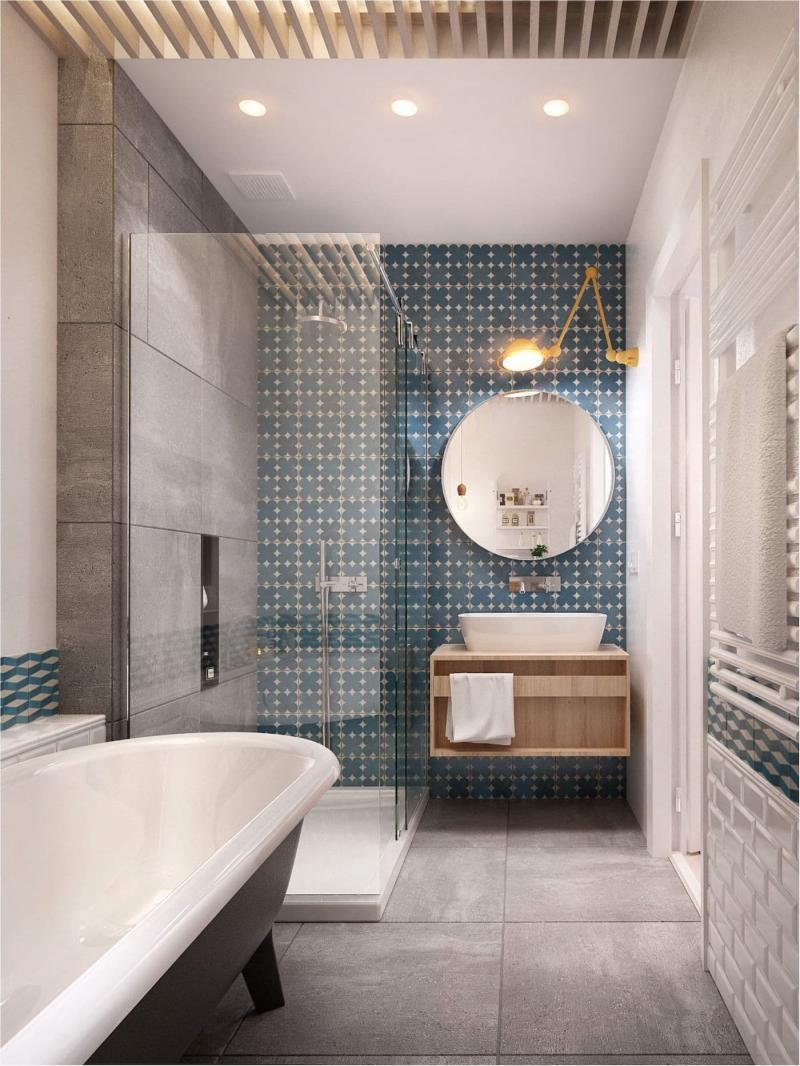 Душевые кабины в ванной 2019 1