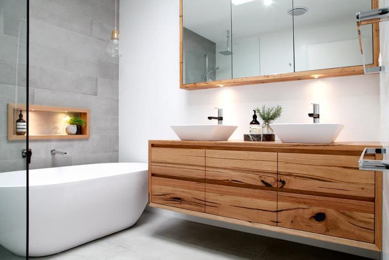 Мебель для ванной 2019 деревяные тумбы 1