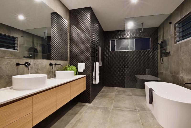 Оформление стен в ванной 2019 3Д-плитка 1
