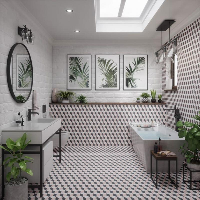 Пол для ванной 2019 незаметный дизайн 4