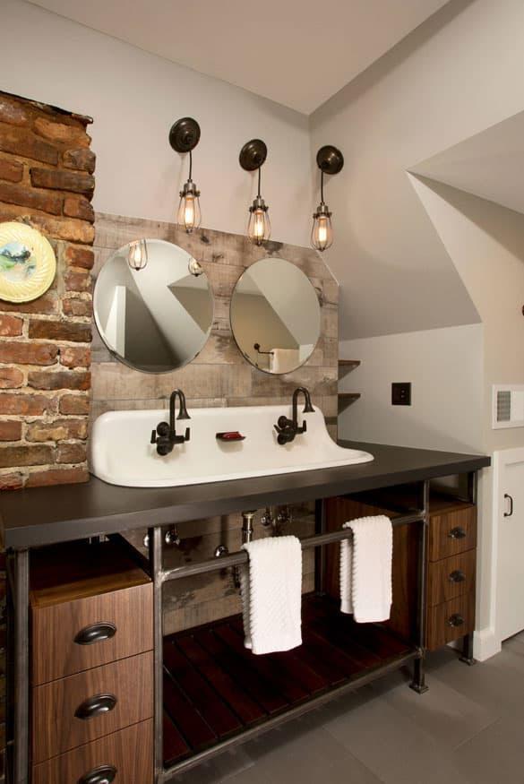 Стилистическое оформленние ванной 2019 лофт 1