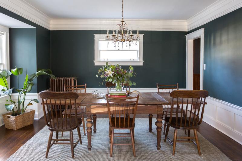 Цвет для оформления квартиры 2019 темно-зеленый 3