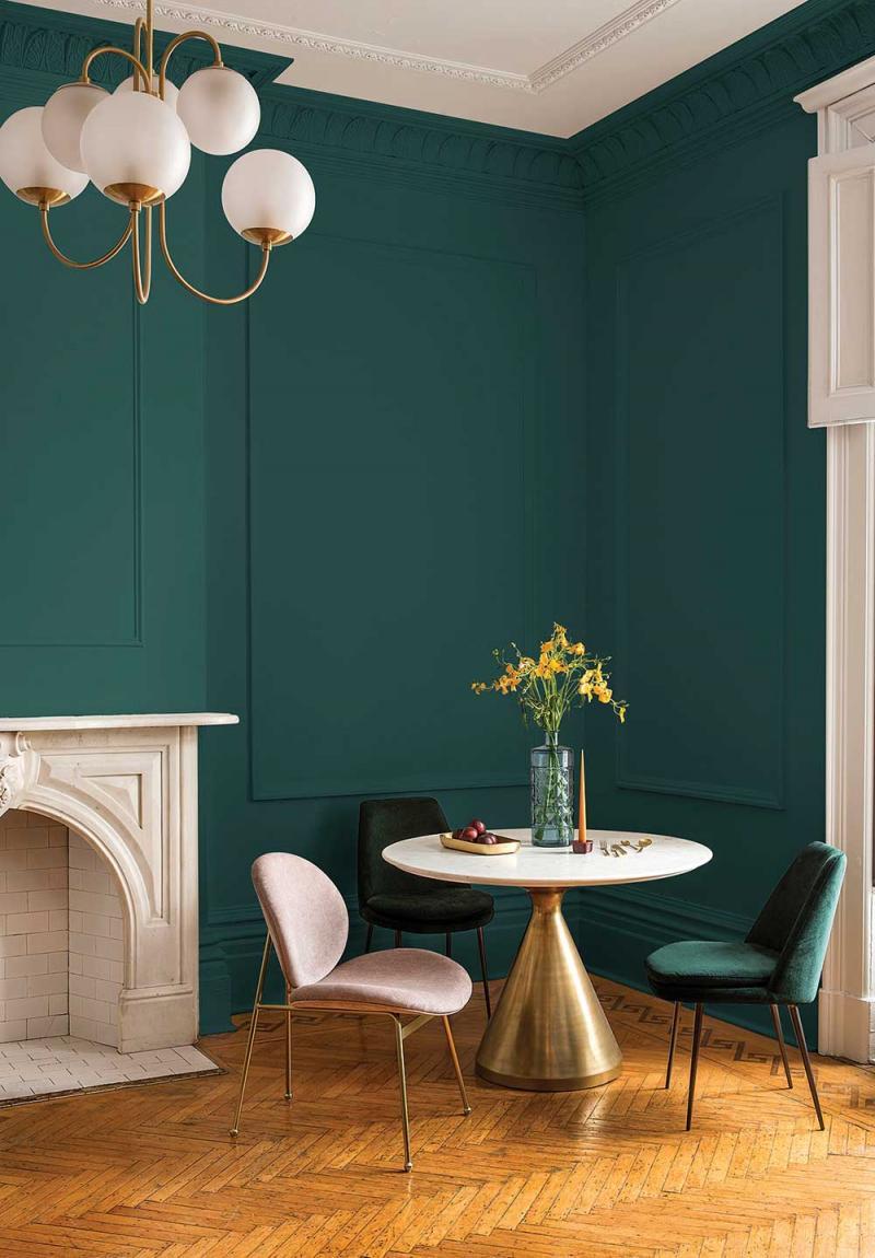 Цвет для оформления квартиры 2019 темно-зеленый 4