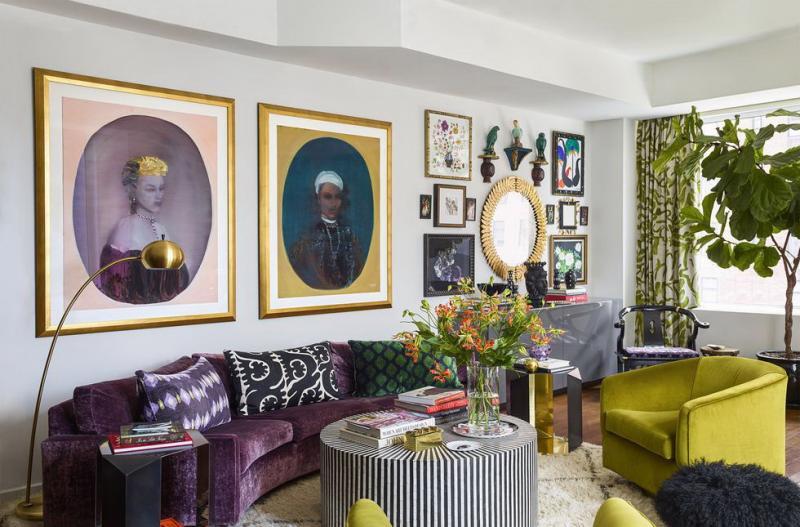 Мебель для квартиры 2019 бархатная обивка 1