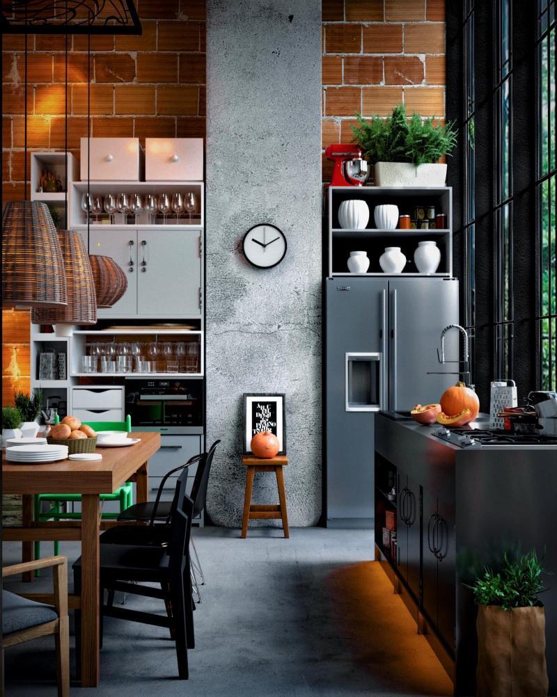 Аксессуары для кухни в стиле лофт 3