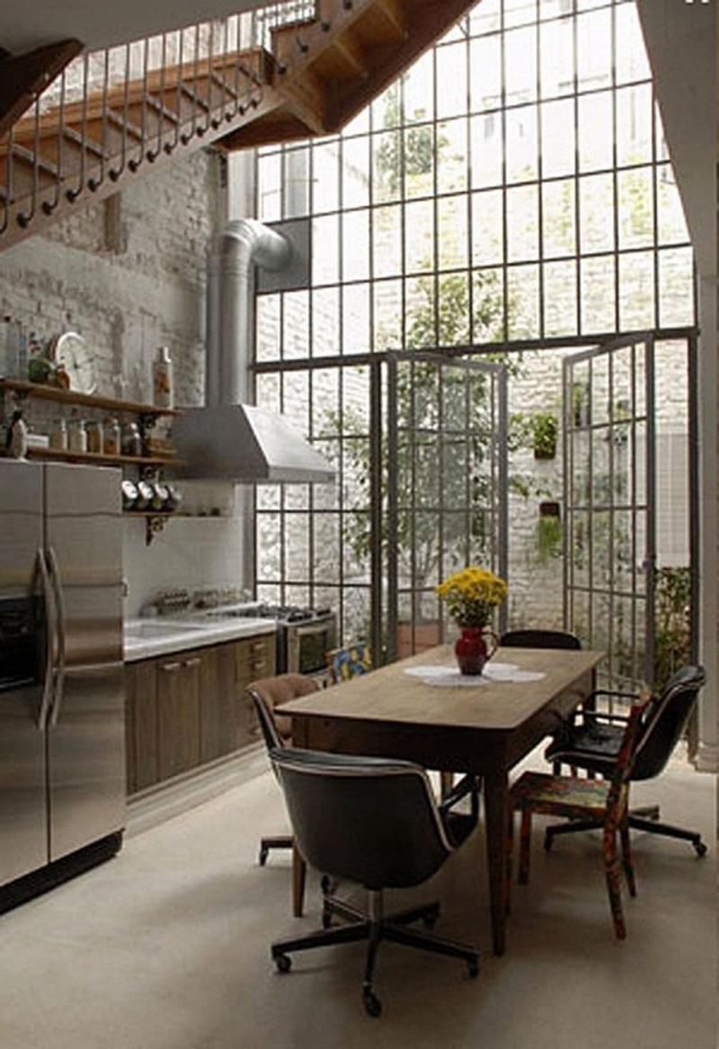 Двери для кухни в стиле лофт 1