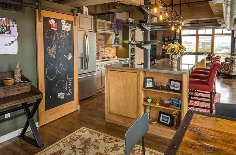 Двери для кухни в стиле лофт 4