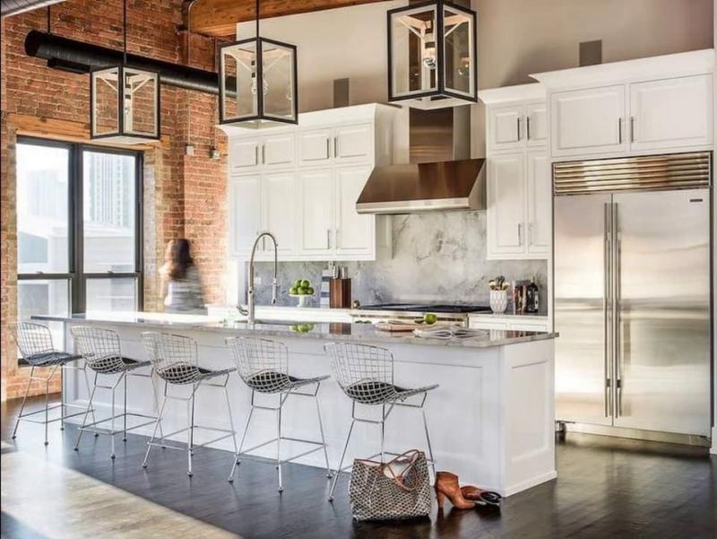 Кухня в стиле лофт цветовые решения 1