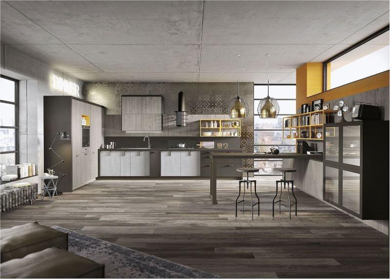 Кухня в стиле лофт цветовые решения 2