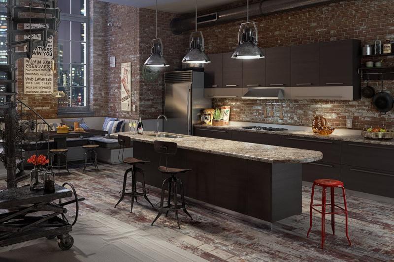 Кухня в стиле лофт цветовые решения 4