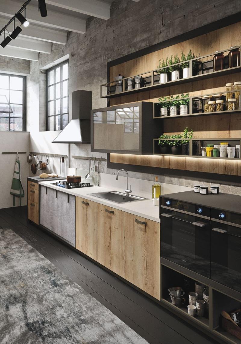 Кухонный гарнитур в стиле лофт 1