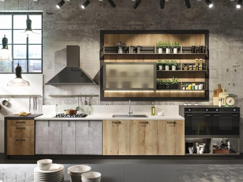 Кухонный гарнитур в стиле лофт 2