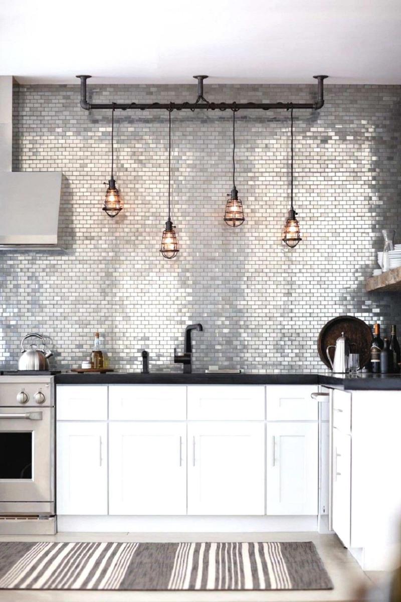 Оформление стен на кухне в стиле лофт 5