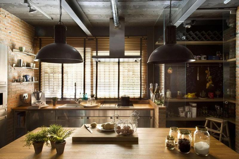 Шторы для кухни в стиле лофт 3