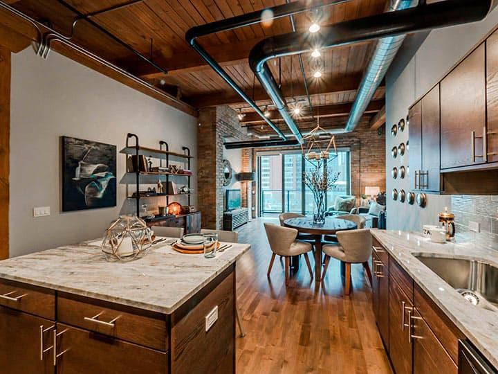 Столешница для кухнив стиле лофт 2