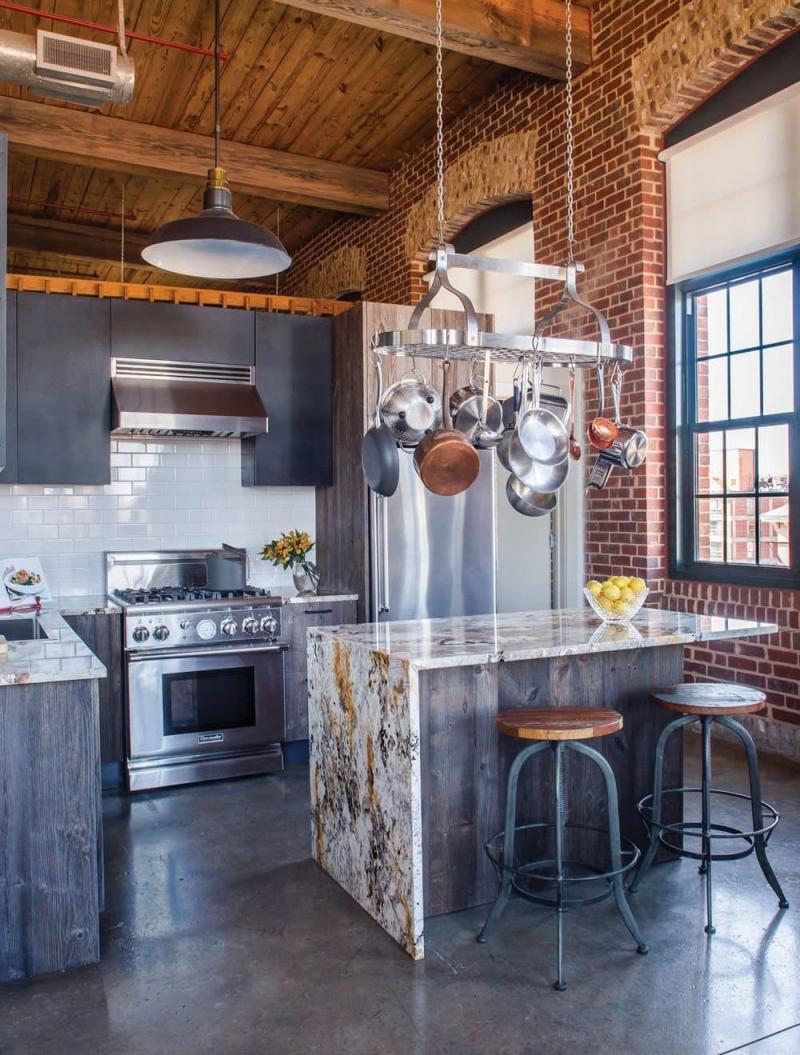 Столешница для кухнив стиле лофт 3