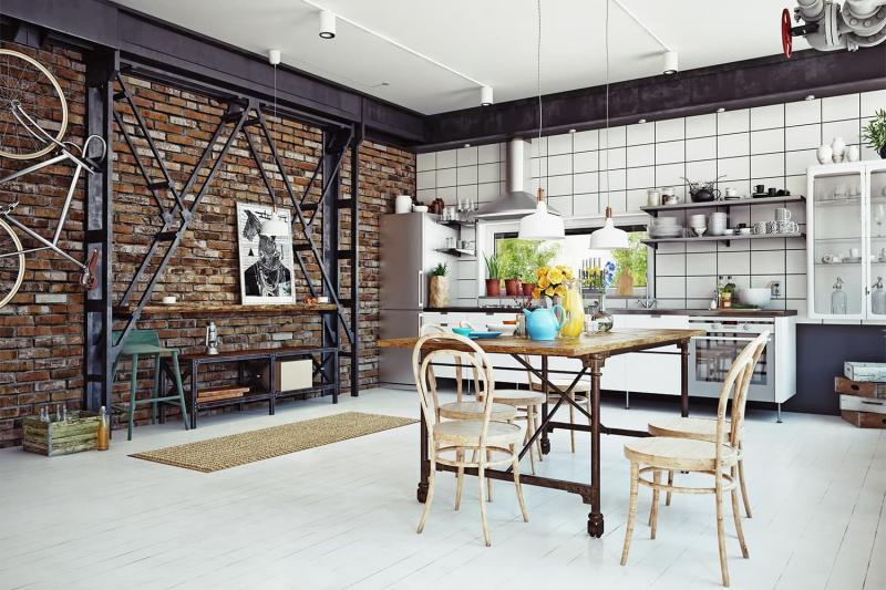 Стулья для кухни в стиле лофт 2