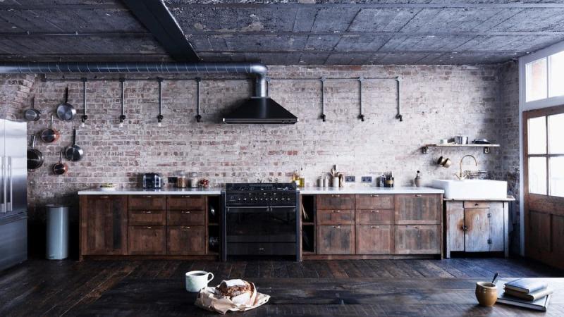 Вытяжка на кухне в стиле лофт 3