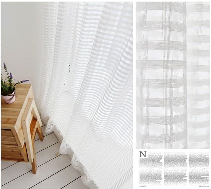Материал для штор на кухню 2019 комбинированная ткань 6