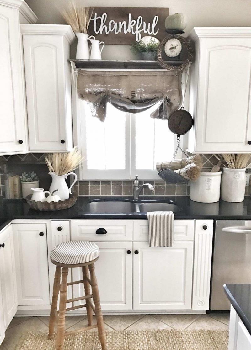 Материал для штор на кухню 2019 мешковина 3