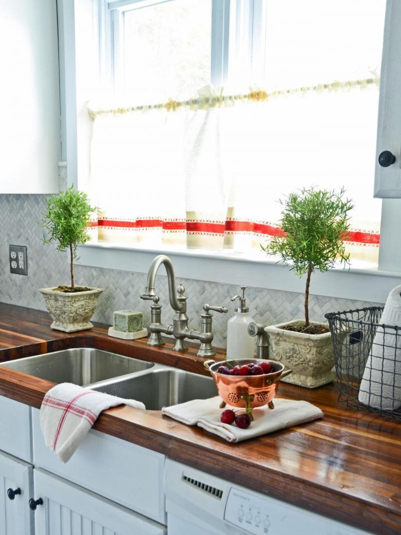 Модели штор для кухни 2019 кофейные занавески 3