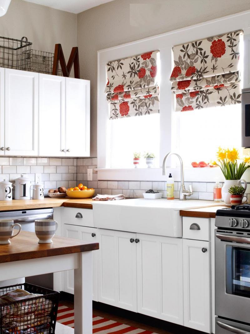 Модели штор для кухни 2019 римская штора 2