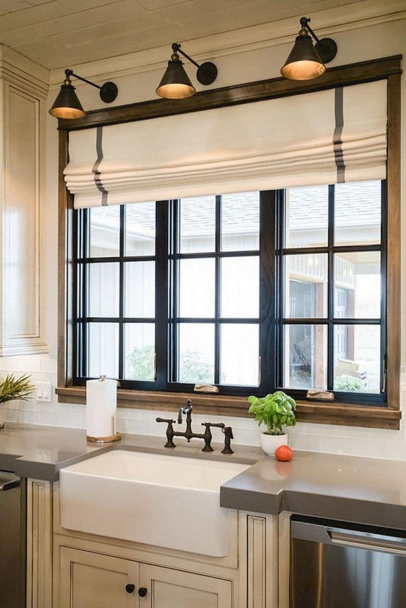 Модели штор для кухни 2019 римская штора 7