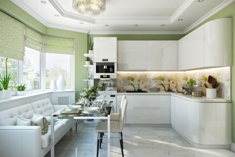 Модели штор для кухни 2019 римская штора 8