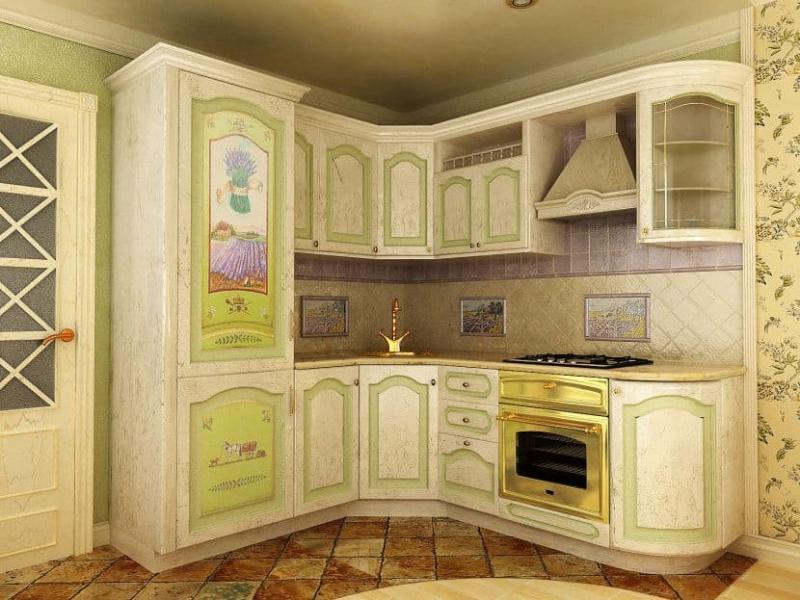 Фартук для кухни в стиле прованс 4